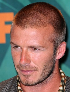 short brown straight shaved spikey David Beckham hairstyles for men Www.ukhairdressers.com VISIT US FOR MEN'S HAIRSTYLES