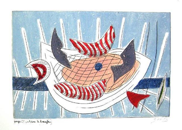 GOETZ - GUICHARD-MEILI Jean, Litter/art/ure. Rovio (Suisse), Edizioni Rovio, 1982. Edition originale de Littérarture enrichie de 8 gravures au carborundum de Henri Goetz. Edizione originale di 90+XXV+15 h.c. es. numerati e firmati