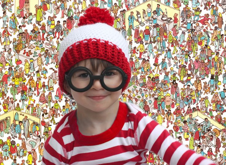 Repeat Crafter Me: Waldo Crochet Hat Pattern and Costume