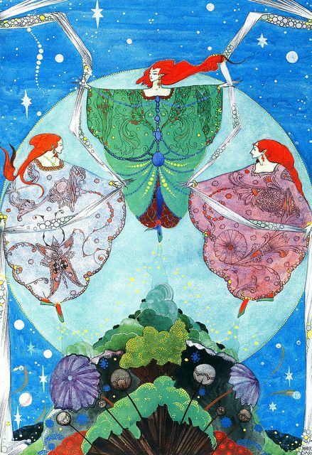 The Elf-Hill By Harry Clarke. I have a print of this. My favorite artist.