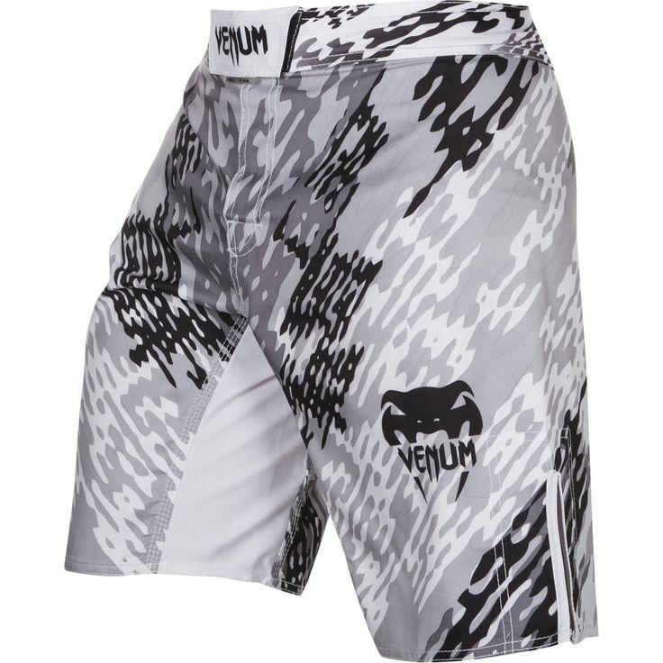Venum Neo Camo Fight Shorts - White/Black