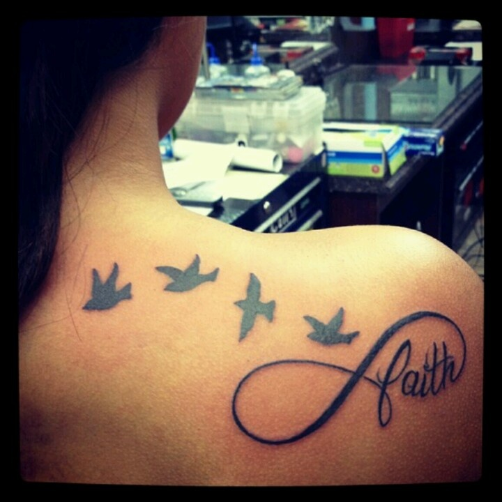 i really want this. it has a great meaning behind it. The birds represent my mom , brother , sister and me. & we all have faith in each other infinity & beyond∞