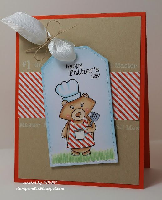 Stamp Smiles: #1 Grill Master is Tagged! Winston's BBQ Stamp Set | Newton's Nook Designs