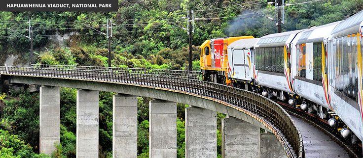 Hapuawhenua Viaduct on the Northern Explorer