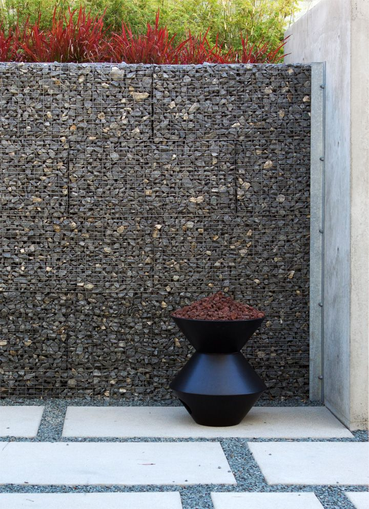 Neat gabion wall