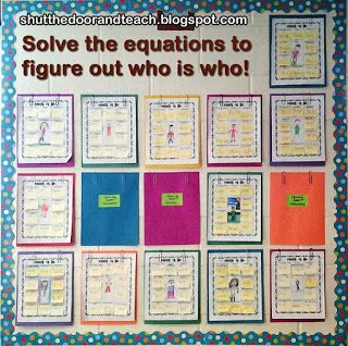 """Shut the Door and Teach: Figure Me Out Beginning of the Year Math  I like adding some requirements such as using only between 1-4 digits, use of a fraction, use all for operations and brainstorming a list of possible things to """"figure out."""""""