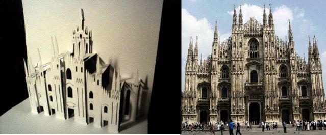 Шаблоны киригами - Дуомо Милан