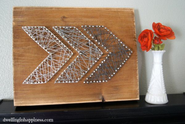 Easy Rustic Arrow String Art - Dwelling in Happiness
