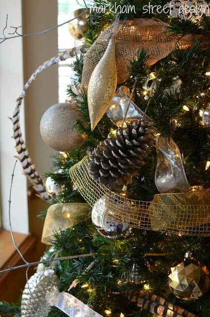 Laura Orr Interiors: Rustic Glam Christmas Tree