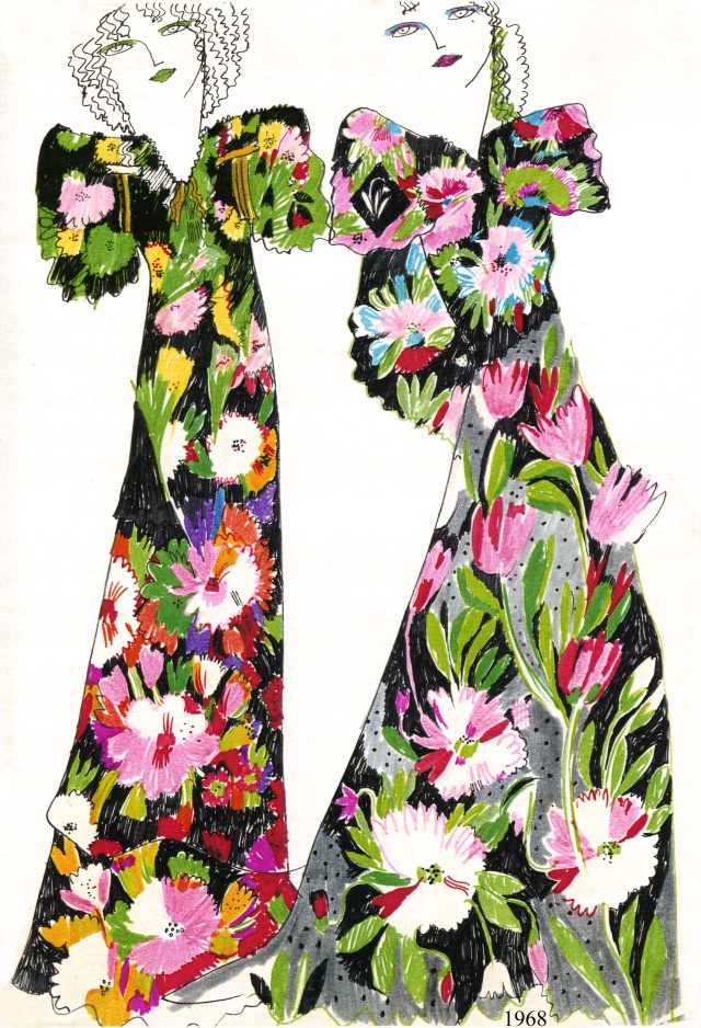 Celia Birtwell prints, circa 1972