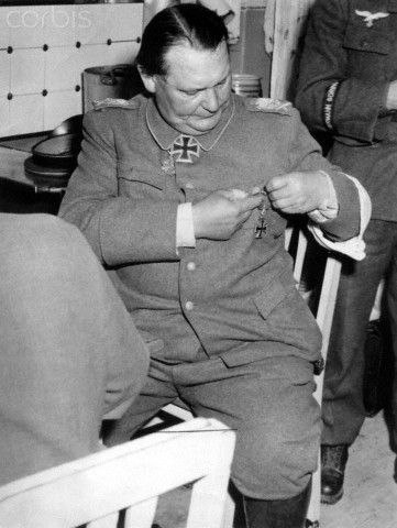 Reich Marshal Hermann Göring in May 1945 after his arrest by the Americans in Augsburg.