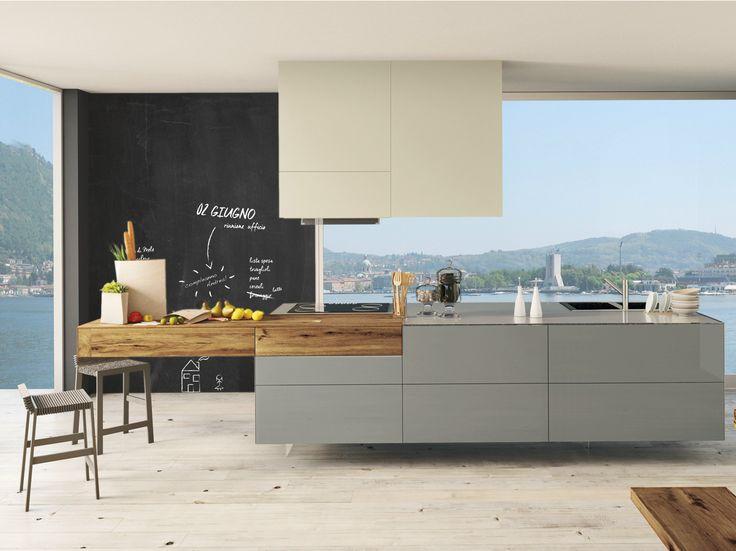 Lackierte Küche mit Kücheninsel 36E8 WILDWOOD | Küche mit Kücheninsel - Lago