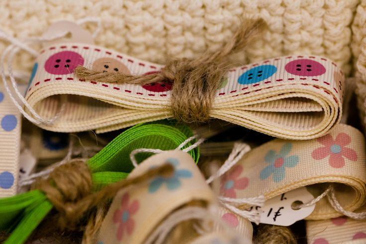Various pieces of styled ribbon