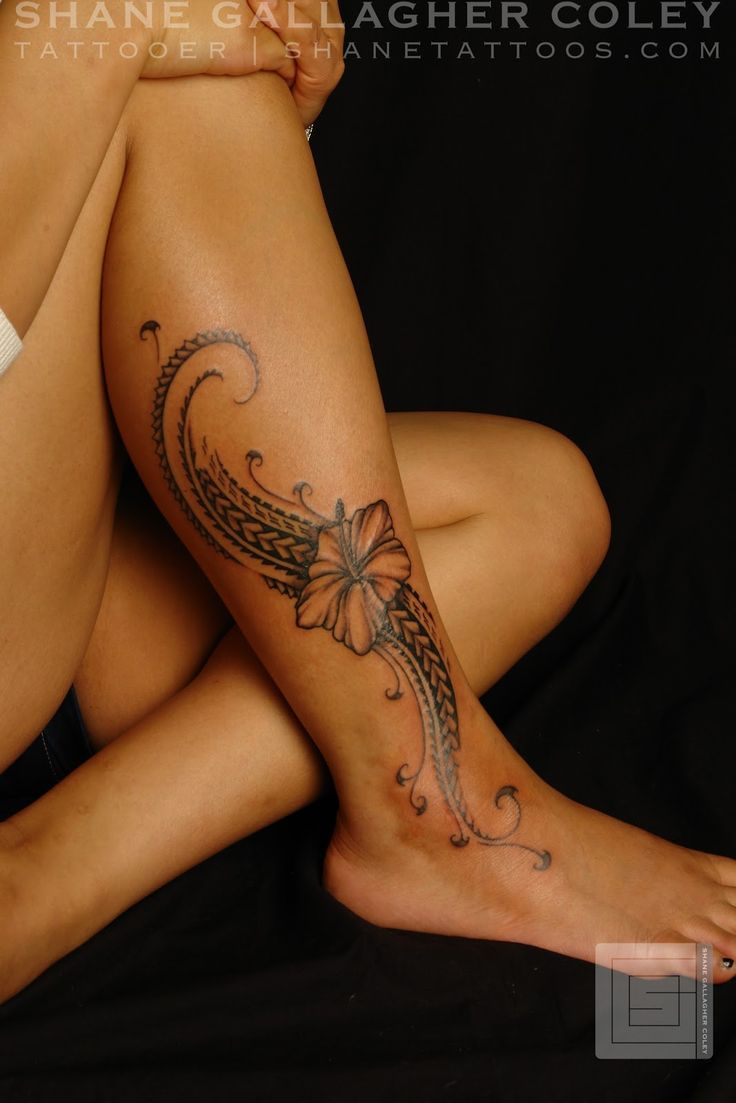 SHANE TATTOOS: Polynesian Female Leg Tattoo