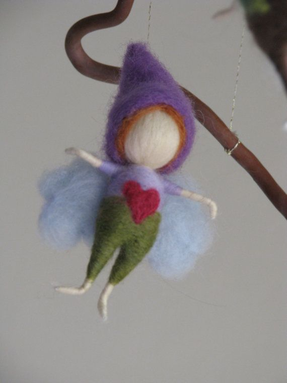Needle felted fairy