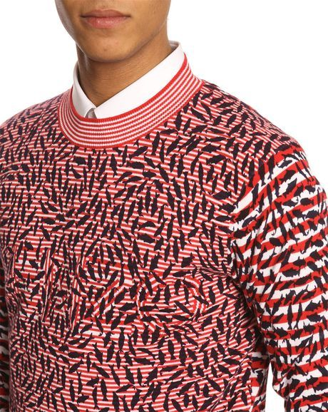 Micro Fish Pattern Sweater in red by Kenzo. http://zocko.it/LDlJg
