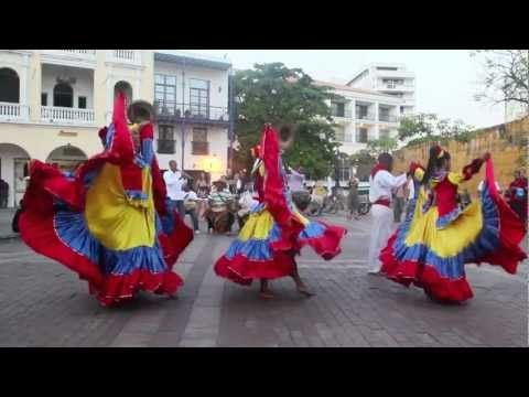 Traditional Colombian Dance in Cartagena | DiscoveringIce.com - YouTube