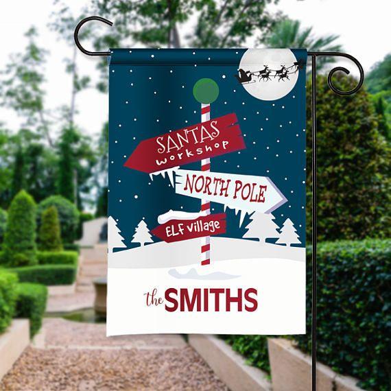 Santa North Pole Workshop Personalized Christmas Holiday