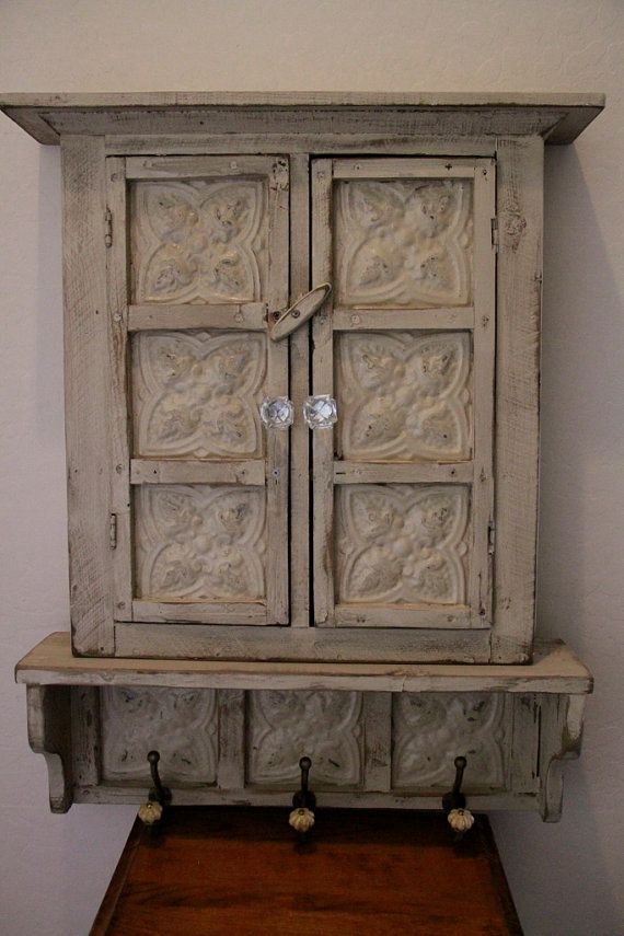Small Primitive Wall Cabinet French Country By
