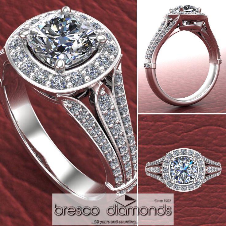 Diamond engagement rings  #customjewellery #goldsmithstudio