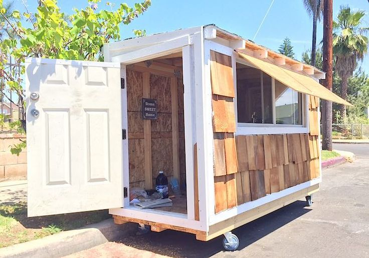 Man built a mobile tiny house for homeless woman...elvis submitted-homesweethome