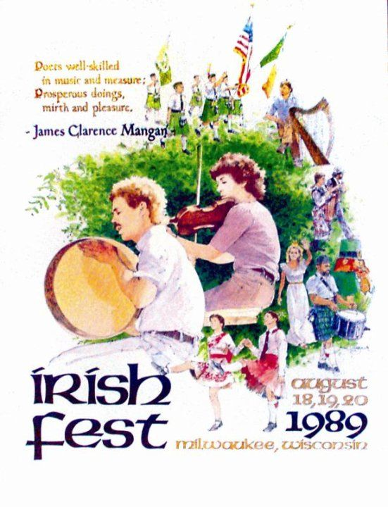 Milwaukee Irish Fest 1989 Poster Design