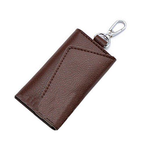 DDLBiz New Fashion Multi-function Key Bill Purse Leather Key Wallets Creative Card Package (Brown)