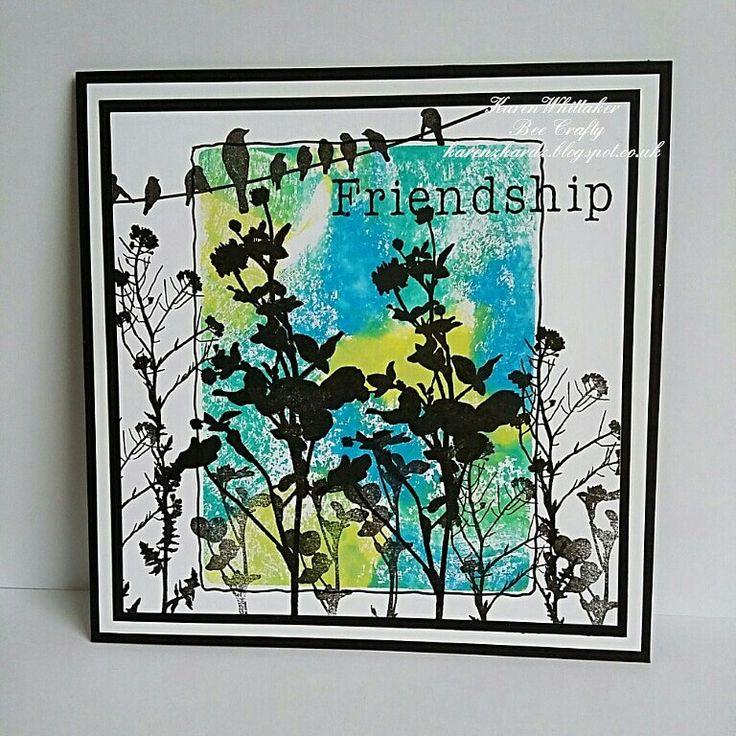 Wildflowers and Birds On A Wire  stamps by Bee Crafty  #dtsample #wildflowers #birdsonawire #distressoxides #stamps #stamping #card #creative #craft #ilovetocraft #creativity #karenzkardz