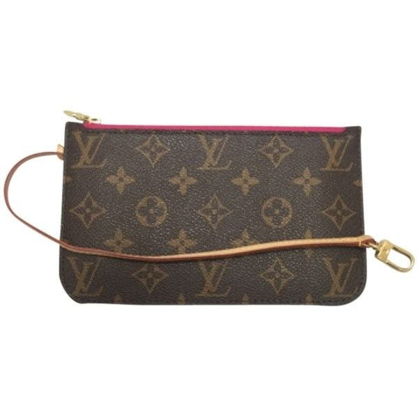 Pre-owned Louis Vuitton Neverfull Pm Monogram Pivoine Wristlet Wallet... ($375) ❤ liked on Polyvore featuring bags, wallets, none, monogrammed bags, monogrammed wristlet wallet, wristlet pouch, louis vuitton wristlet and louis vuitton bags