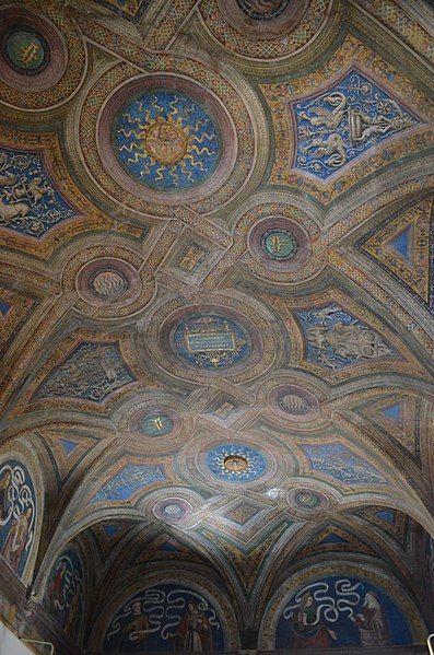Pinturicchio (1452 ca.-1513) e aiuti - Soffitto - affresco - 1492-1494 - Sala del Credo - Appartamento Borgia - Palazzo Apostolico della Città del Vaticano - Musei Vaticani