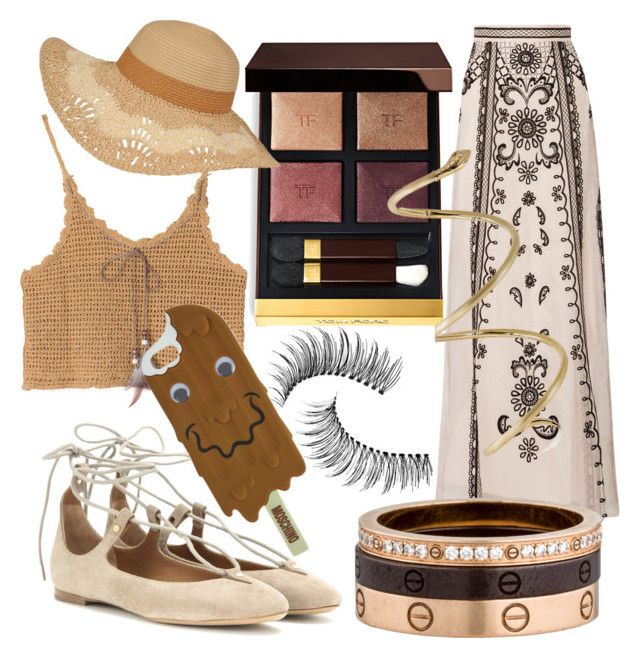 """""""Untitled #4"""" by fatgandalfqwq on Polyvore featuring Temperley London, Chloé, Tom Ford, Cartier, Trish McEvoy and Moschino"""