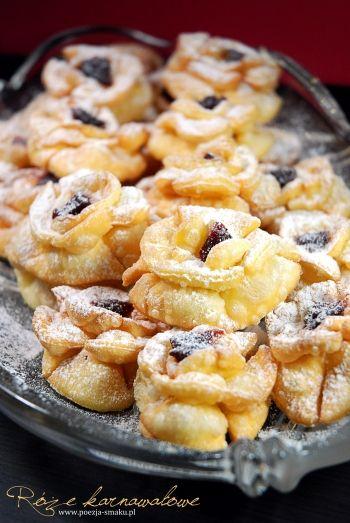Róże karnawałowe / Carnival Roses Cakes (recipe in Polish)