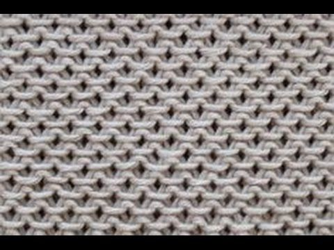 Perlpatent mit 2 Farben stricken - Patentmuster - Strickmuster - YouTube