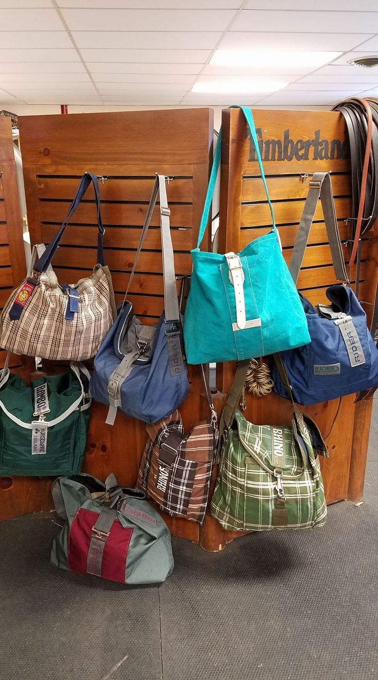 Bags made from recycled horse blankets