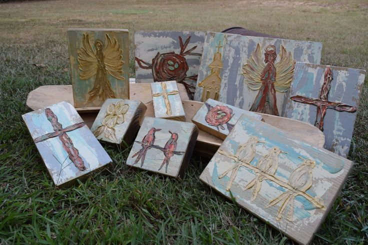 Covered With Paint-WTC 12-Gift Temps Beautiful handmade, artisan paintings made in Mississippi.