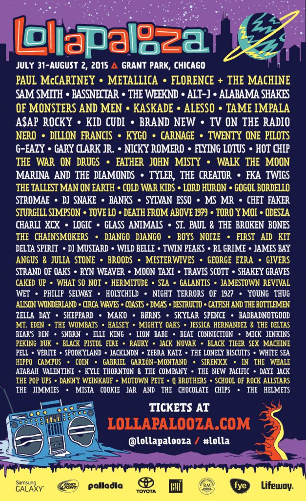 Lollapalooza's 2015 Lineup: One Day Later