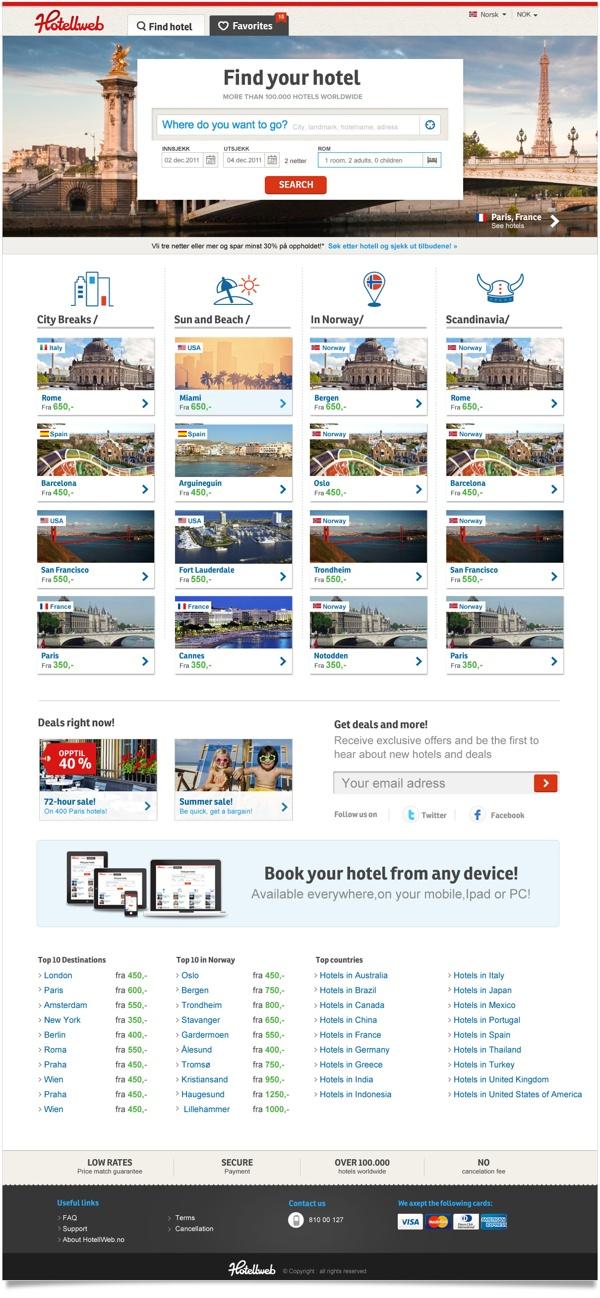 Hotellweb.no by Unfold , via Behance