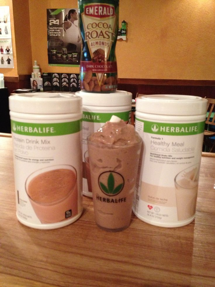 Rocky Road Smoothie Recipe: 8 oz water with 2 scoops Herbalife Chocolate Protein Drink Mix, 1 scoops Herbalife Formula 1 Dulce de Leche, 1 scoops Herbalife Formula 1 Dutch Chocolate, 1/4 cup of coco roasted Almonds, 1/4 cup of marshmallows, 1 cup ice- blend. Yummy!