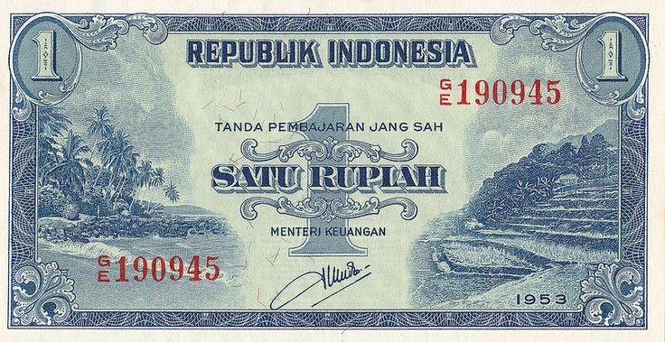 Tempo Doeloe - 1953, Satu Rupiah I (front)