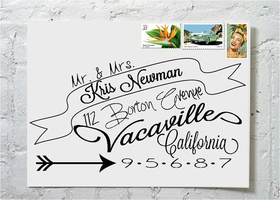Dashingly chic calligraphy envelope addressing the by ilulily 2 00