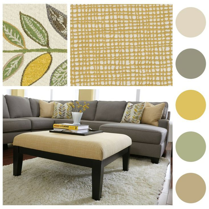 Sneak Peak   Coming Soon! The Grays U0026 Yellows In This Sectional Bring  Warmth Into · Living Dining RoomsGrey Living RoomsLiving Room ColorsLiving  ...