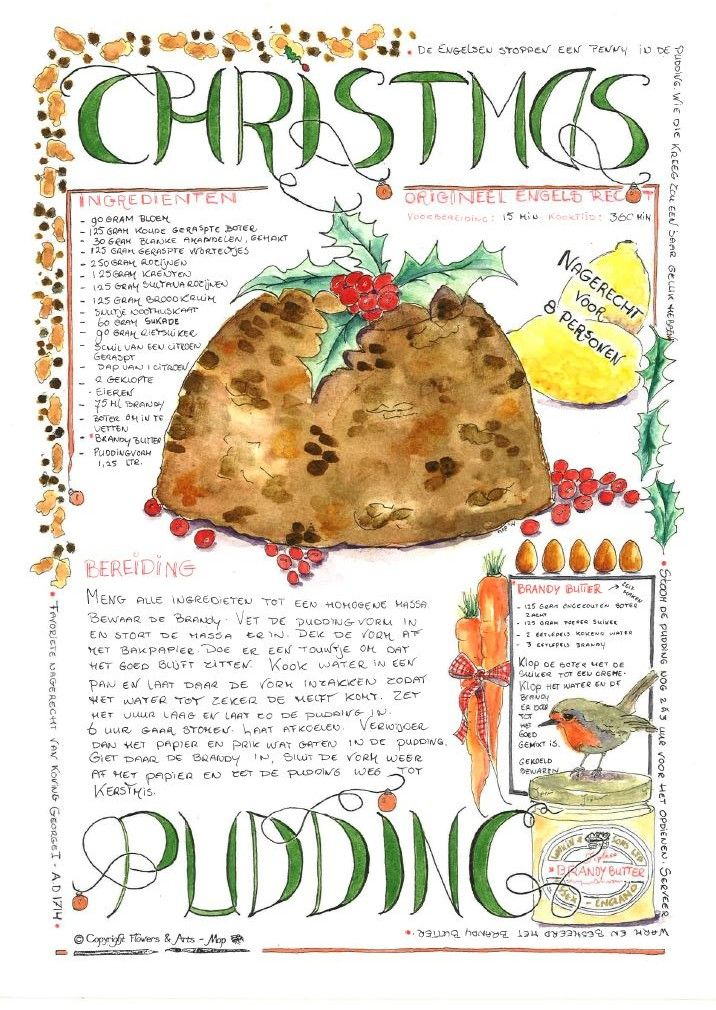 Illustrated recipe for magazine Landleven december 2014