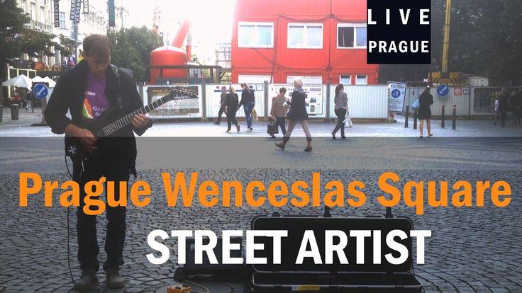 Street Artist Prague - Electric guitar - Fantastic Solo - Wenceslas Square