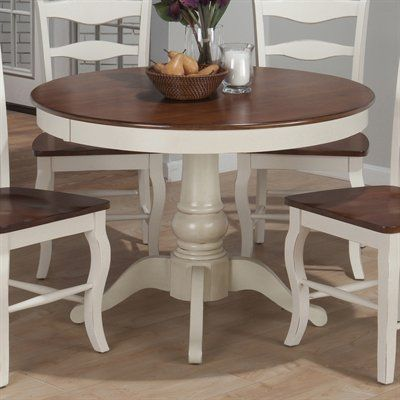 jofran madison county round pedestal dining table