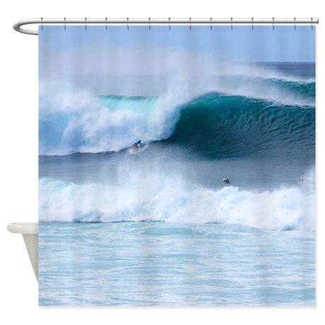 Banzai Pipeline Hawaii Tropical Shower Curtain
