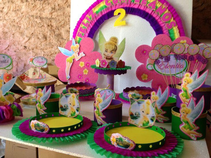 17 mejores ideas sobre centro de mesa tinkerbell en for Decoracion de mesas infantiles