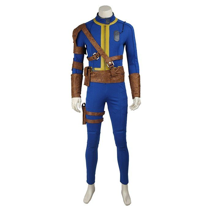 Manles Men's Fallout 4 Survivor Nate Costume Game Fallout Cosplay Outfit XXX-Large