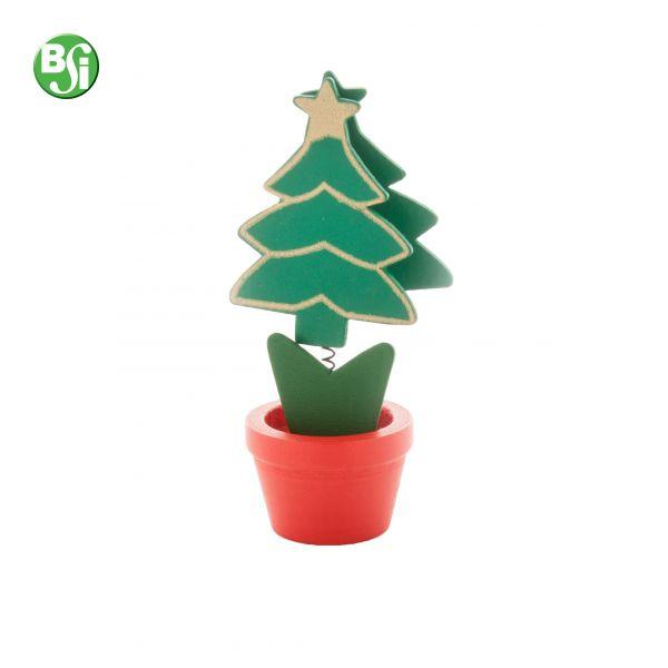 Memo clip in legno a forma di albero di Natale #gadget #alberodinatale #gadgetpersonalizzati #natale #gift #bsigadget #chistmas