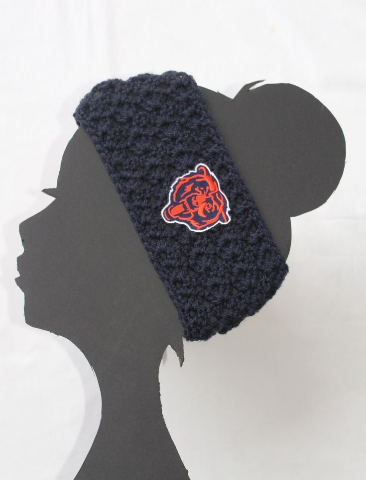 Chicago Bears Football NFL Headband by ThatGirlsCrafts on Etsy, $15.00