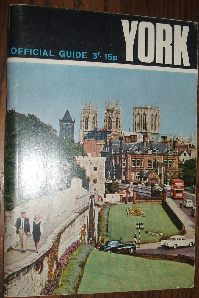 1970 York Official Guide Book England Travel Ephemera, Illustrated, Maps